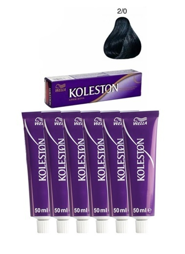 Koleston Koleston Kalıcı Krem Saç Boyası 2/0 Siyah X6 Renksiz